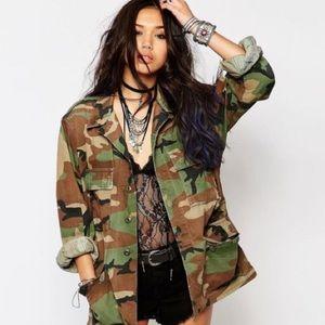 Military oversized authentic trendy jacket